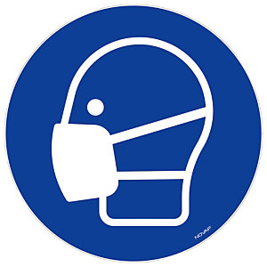 Bord masker dragen verplicht 30 cm diameter