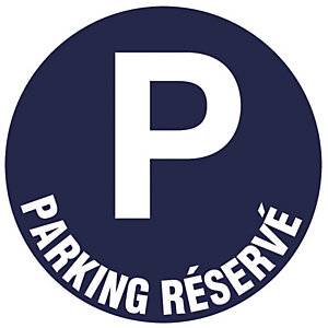 Bord parking gereserveerd Ø 30 cm.
