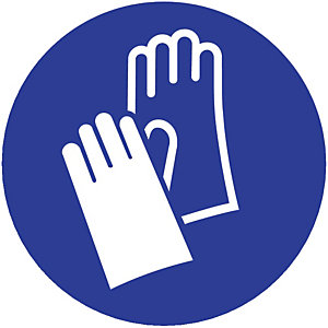 Bord veiligheidshandschoen verplicht Ø 30 cm.