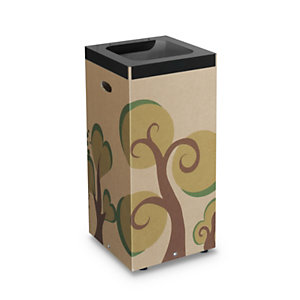 Bosco Cestino in cartone per raccolta differenziata, 38 x 38 x 80 cm, Capacità 100 l