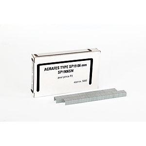 Bostitch Agrafes SP 19 1/4'', pour pince P3 - Boîte de 5000