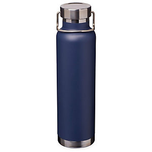 Bottiglia personalizzabile con isolamento sottovuoto in rame Thor, Acciaio inox, Capacità 650 ml, Navy
