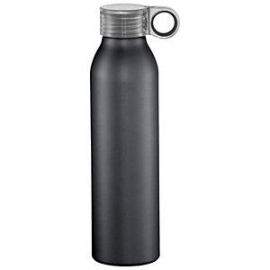 Bottiglia personalizzabile Grom Sport in alluminio, Capacità 650 ml, Nero