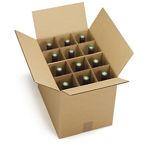 Bottle boxes with dividers