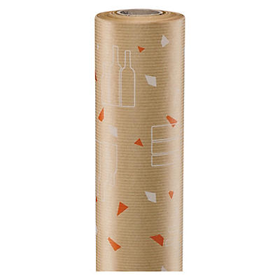 Bottle design Kraft wrapping paper
