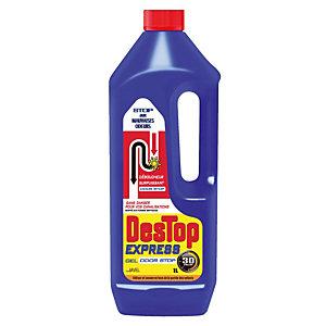 Déboucheur Destop express gel odor stop à la javel 1 L