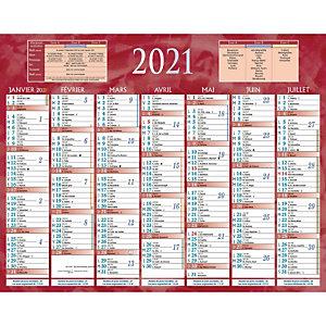 Bouchut Calendrier bancaire rouge - 21 x 26,5 cm - 2021