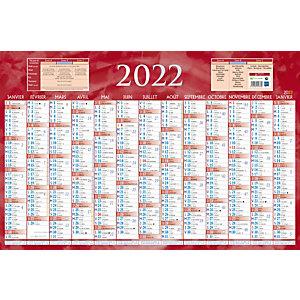 Bouchut Calendrier bancaire rouge - 43 x 65 cm - 2022