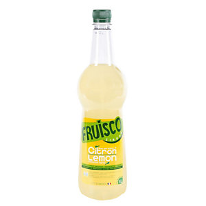 Bouteille de sirop citron jaune, fruisco 1Litre