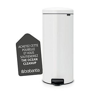 BRABANTIA Poubelle à pédale Newicon, 30 litres - Blanc