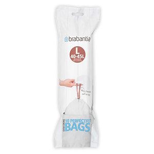 BRABANTIA Sacs poubelle plastique  BRABANTIA - 45 L  - Blanc  - Rouleau de 10