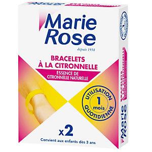 Bracelets à la citronnelle Marie Rose, 2 boîtes de 2 bracelets