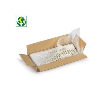 Braune flache Wellpapp-Faltkartons RAJABOX, 1-wellig