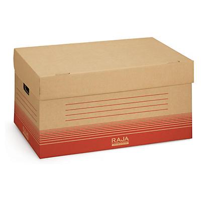 Braune Klappdeckel-Archivbox RAJA