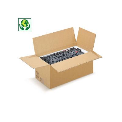 Braune, palettierfähige Schwerlastkartons RAJABOX, 2-wellig