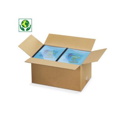 Braune Wellpapp-Faltkartons, 1-wellig, palettierfähig