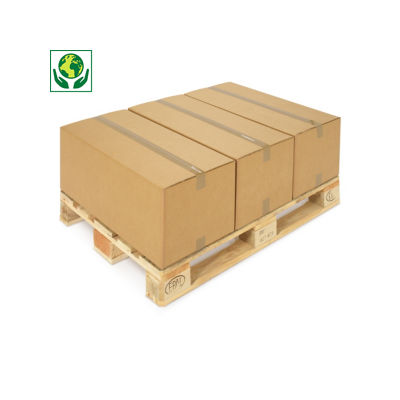Braune Wellpapp-Faltkartons, 2-wellig, Länge ab 700 mm