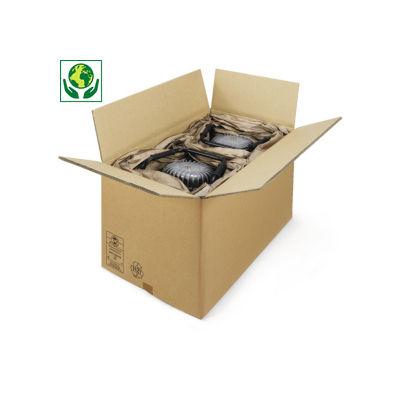 Braune Wellpapp-Faltkartons, 3-wellig, palettierfähig