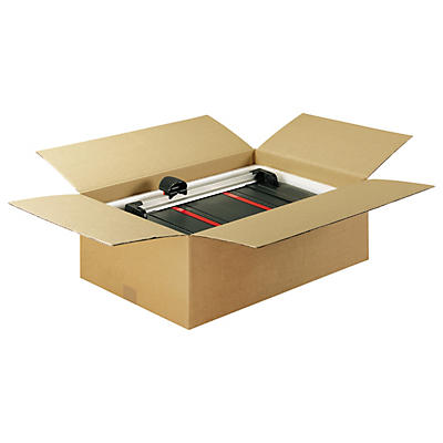 Braune Wellpapp-Faltkartons RAJA, 1-wellig, DIN A5, A6