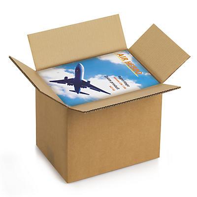 Caisse carton brune double cannelure RAJA, format DIN A4##Braune Wellpapp-Faltkartons RAJA, 2-wellig, DIN A4 Format