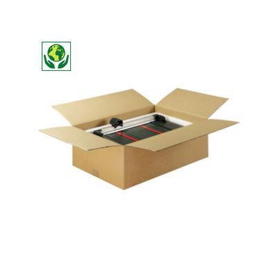 Braune Wellpapp-Faltkartons RAJABOX, 1-wellig, DIN A5, A6