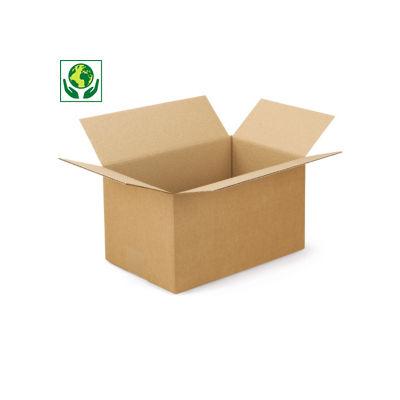 Braune Wellpapp-Faltkartons RAJABOX, 1-wellig, Länge 300 bis 400 mm
