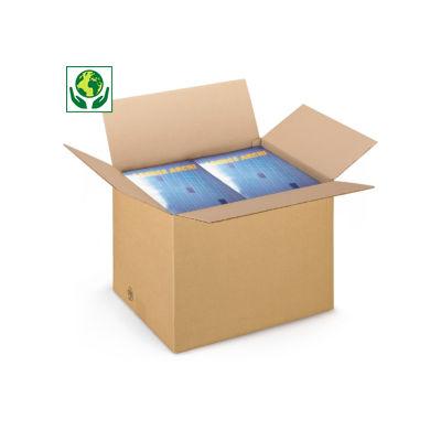 Braune Wellpapp-Faltkartons RAJABOX, 1-wellig, Länge bis 300 mm
