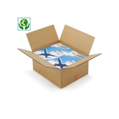 Braune Wellpapp-Faltkartons RAJABOX, 2-wellig, DIN A3 Format
