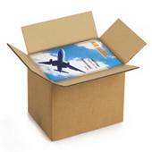 Braune Wellpapp-Faltkartons RAJABOX, 2-wellig, DIN A4 Format