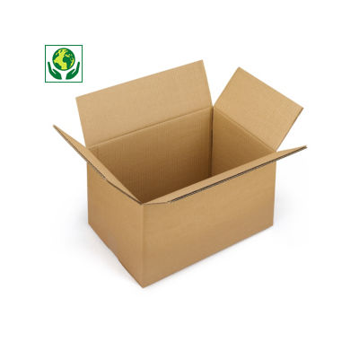 Braune Wellpapp-Faltkartons RAJABOX, 2-wellig, Länge 500 bis 700 mm