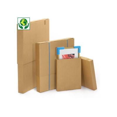 Brauner Stülpdeckelkarton für flache Produkte, 2-wellig RAJA