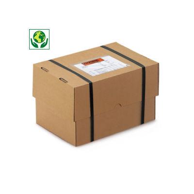 Brauner, verstärkter Stülpdeckelkarton, 1-wellig, DIN A6, A7