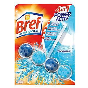 BREF Pulito Facile Igienizzante per il Bagno 4 in 1 Power Activ Tavoletta solida Oceano
