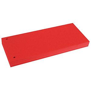 BREFIOCART Divisorio neutro, 100 tasti, Cartoncino, Rosso (confezione 100 pezzi)