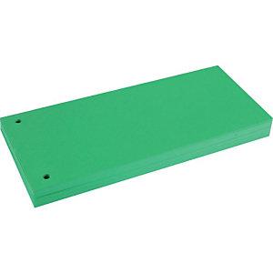 BREFIOCART Divisorio neutro, 100 tasti, Cartoncino, Verde (confezione 100 pezzi)