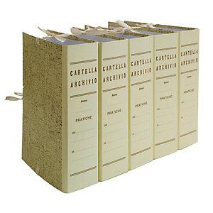 BREFIOCART Faldone - legacci incollati - juta - 35x25 cm - dorso 8 cm - paglia - Brefiocart