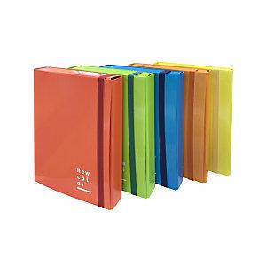 BREFIOCART New Color Cartella progetti con elastico, 250 x 350 mm, Dorso 70 mm, Cartone verniciato, Blu