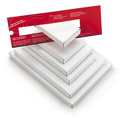 Brevpack med öppning på kortsidan