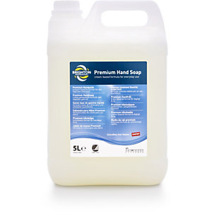 Brighton Professional Savon pour les mains de qualité, nourrissant et rafraîchissant Blanc, Bidon 5L