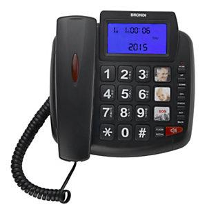 BRONDI Bravo 90 LCD Telefono a filo, Nero