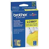 Brother Cartuccia inkjet LC980Y, LC-980Y, Inchiostro Innobella™, Giallo, Pacco singolo