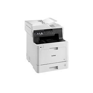 Brother DCP-L8410CDW, Laser, 2400 x 600 DPI, 250 hojas, A4, Impresión directa, Negro, Blanco