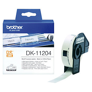 Brother DK-11204 etiquetas de múltiple uso - 17 x 54 mm.