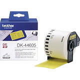 Brother DK-44605 Cinta de etiquetas, negro sobre amarillo, 62 mm x 30,5 m