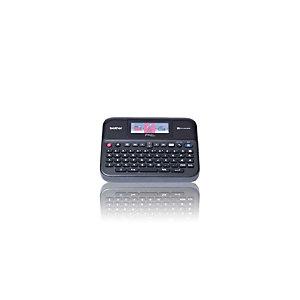 Brother Étiqueteuse PT-D600, clavier AZERTY, écran couleur, taille d'étiquette jusqu'à 24mm, 14polices, vitesse d'impression de 20mm/s