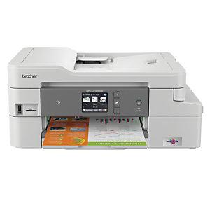 Brother MFC-J1300DW, Inyección de tinta, 1200 x 6000 DPI, 150 hojas, A4, Impresión directa, Blanco