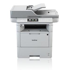 Brother MFC-L6800DW, Laser, 1200 x 1200 DPI, 520 hojas, A4, Impresión directa, Blanco
