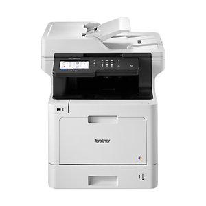 Brother MFC-L8900CDW, Laser, 2400 x 600 DPI, 250 hojas, A4, Impresión directa, Negro, Gris