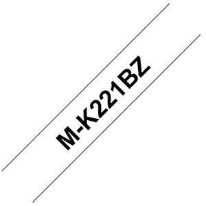 Brother Nastro M per etichettatrici - Nero/Bianco - Dimensione mm 9 x 8 m.