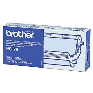 Brother Nastro per stampante PC-75, Nero